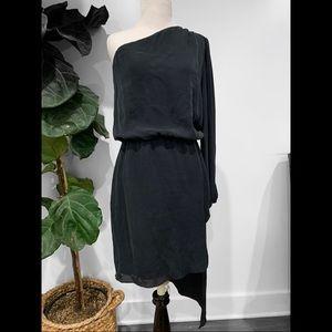 MASON One Shoulder Asymmetrical Silk Dress
